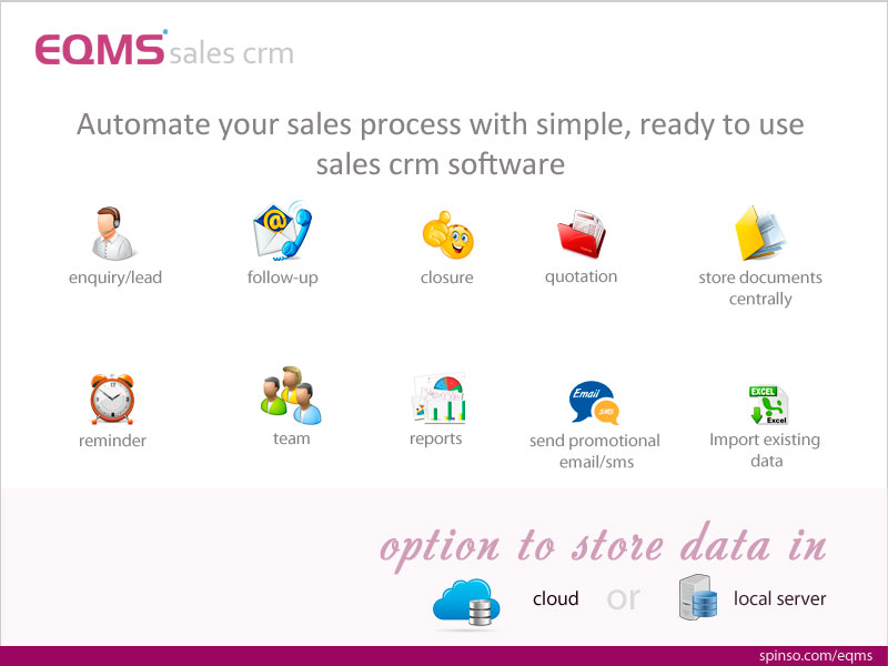 EQMS is a simple Ready to use Sales CRM to automate and streamline your sales wonderful Screen Shot