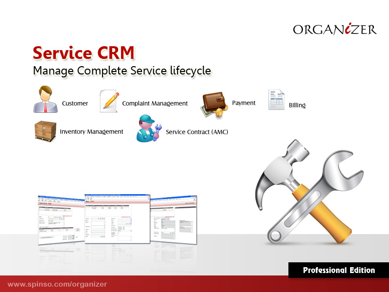 Organizer Professional : Service CRM full screenshot